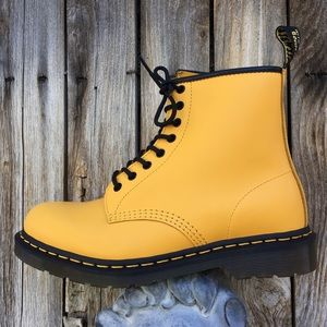 NWT Dr. Martens 1460 Leather Combat Boot Yellow 11